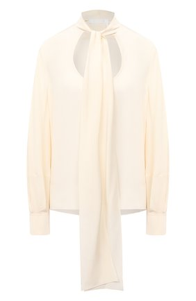 Женская шелковая блузка CHLOÉ бежевого цвета, арт. CHC20AHT55004 | Фото 1