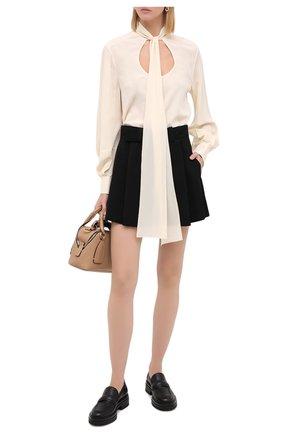 Женская шелковая блузка CHLOÉ бежевого цвета, арт. CHC20AHT55004 | Фото 2