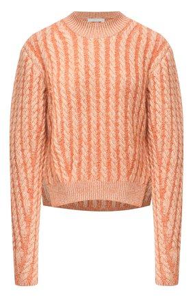 Женский шерстяной пуловер CHLOÉ оранжевого цвета, арт. CHC20AMP50590   Фото 1