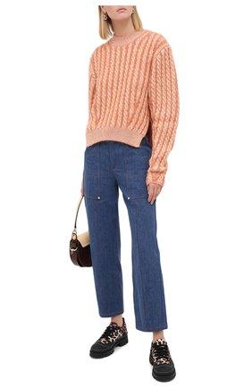 Женский шерстяной пуловер CHLOÉ оранжевого цвета, арт. CHC20AMP50590   Фото 2
