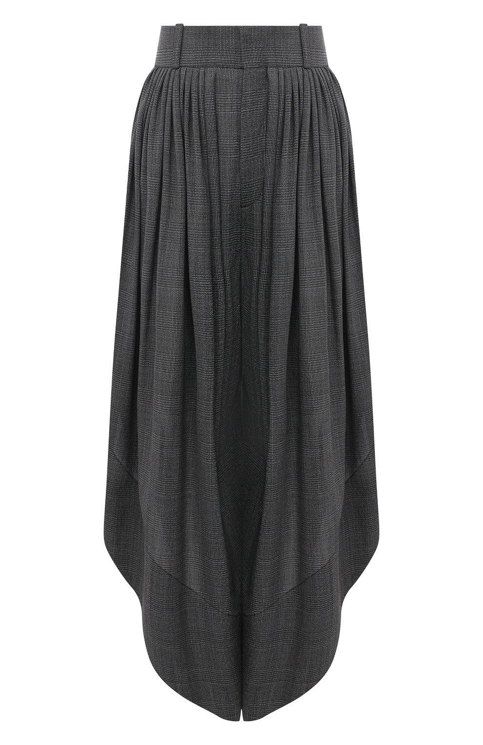 Женские шерстяные брюки CHLOÉ черного цвета, арт. CHC20APA23063 | Фото 1