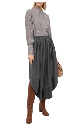 Женские шерстяные брюки CHLOÉ черного цвета, арт. CHC20APA23063 | Фото 3