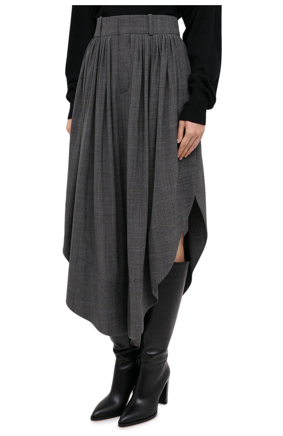 Женские шерстяные брюки CHLOÉ черного цвета, арт. CHC20APA23063 | Фото 4