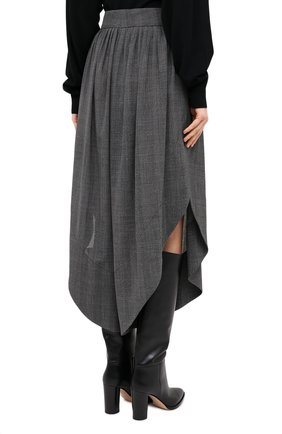 Женские шерстяные брюки CHLOÉ черного цвета, арт. CHC20APA23063 | Фото 5