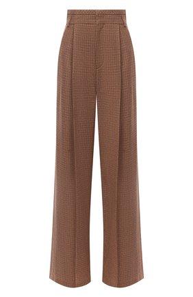 Женские шерстяные брюки CHLOÉ коричневого цвета, арт. CHC20APA48163 | Фото 1