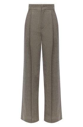 Женские шерстяные брюки CHLOÉ зеленого цвета, арт. CHC20APA48163 | Фото 1