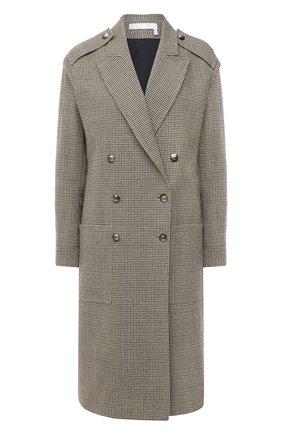 Женское шерстяное пальто CHLOÉ зеленого цвета, арт. CHC20AVE14163 | Фото 1