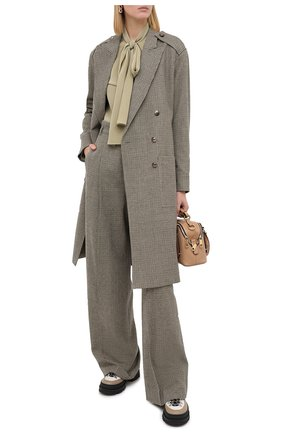 Женское шерстяное пальто CHLOÉ зеленого цвета, арт. CHC20AVE14163 | Фото 2