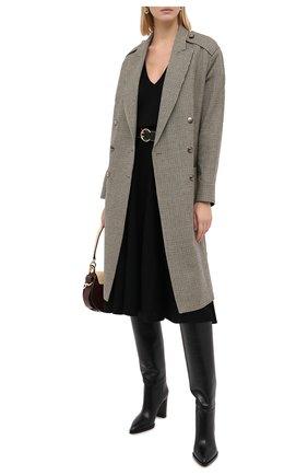 Женское шерстяное пальто CHLOÉ зеленого цвета, арт. CHC20AVE14163 | Фото 3