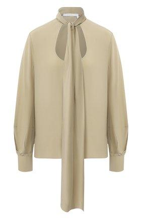 Женская шелковая блузка CHLOÉ светло-зеленого цвета, арт. CHC20AHT55004 | Фото 1