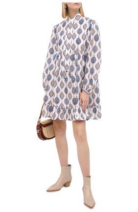 Женское шелковое платье CHLOÉ разноцветного цвета, арт. CHC20AR006321 | Фото 2
