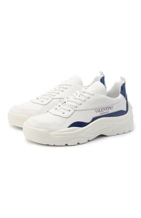 Кожаные кроссовки Valentino Garavani Gumboy   Фото №1