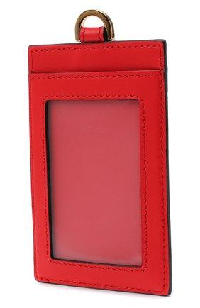 Женский кожаный футляр для кредитных карт virtus VERSACE красного цвета, арт. DP3H672V/DVT2 | Фото 2 (Материал: Кожа)