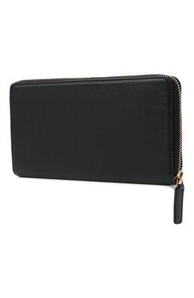 Женские кожаный кошелек VERSACE черного цвета, арт. DPDG326V/D7VIT | Фото 2