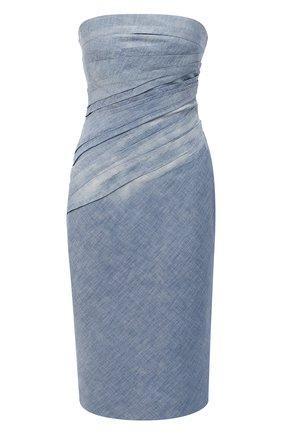 Женское хлопковое платье RALPH LAUREN голубого цвета, арт. 290798633 | Фото 1