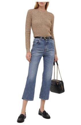 Женские джинсы SAINT LAURENT синего цвета, арт. 635895/Y893V | Фото 2