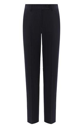 Женские шерстяные брюки EMPORIO ARMANI темно-синего цвета, арт. 0NP51T/02157   Фото 1
