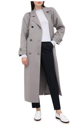 Женские шерстяные брюки EMPORIO ARMANI темно-синего цвета, арт. 0NP51T/02157   Фото 2
