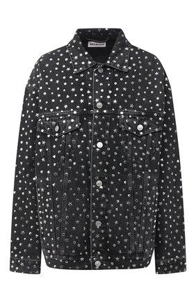 Женская джинсовая куртка BALENCIAGA темно-серого цвета, арт. 625990/TBP47   Фото 1