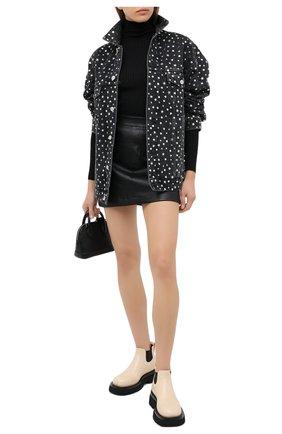Женская джинсовая куртка BALENCIAGA темно-серого цвета, арт. 625990/TBP47   Фото 2