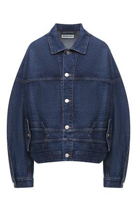 Женская джинсовая куртка BALENCIAGA синего цвета, арт. 625989/TDW14   Фото 1