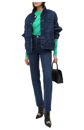 Женская джинсовая куртка BALENCIAGA синего цвета, арт. 625989/TDW14   Фото 2