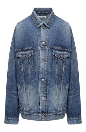 Женская джинсовая куртка BALENCIAGA синего цвета, арт. 620746/TCW03   Фото 1