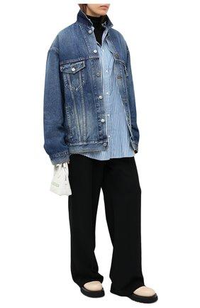 Женская джинсовая куртка BALENCIAGA синего цвета, арт. 620746/TCW03   Фото 2