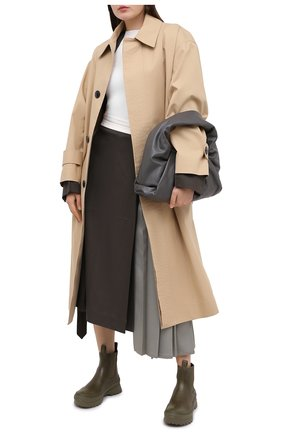 Женские кожаные челси JIL SANDER хаки цвета, арт. JP33010A-12112 | Фото 2