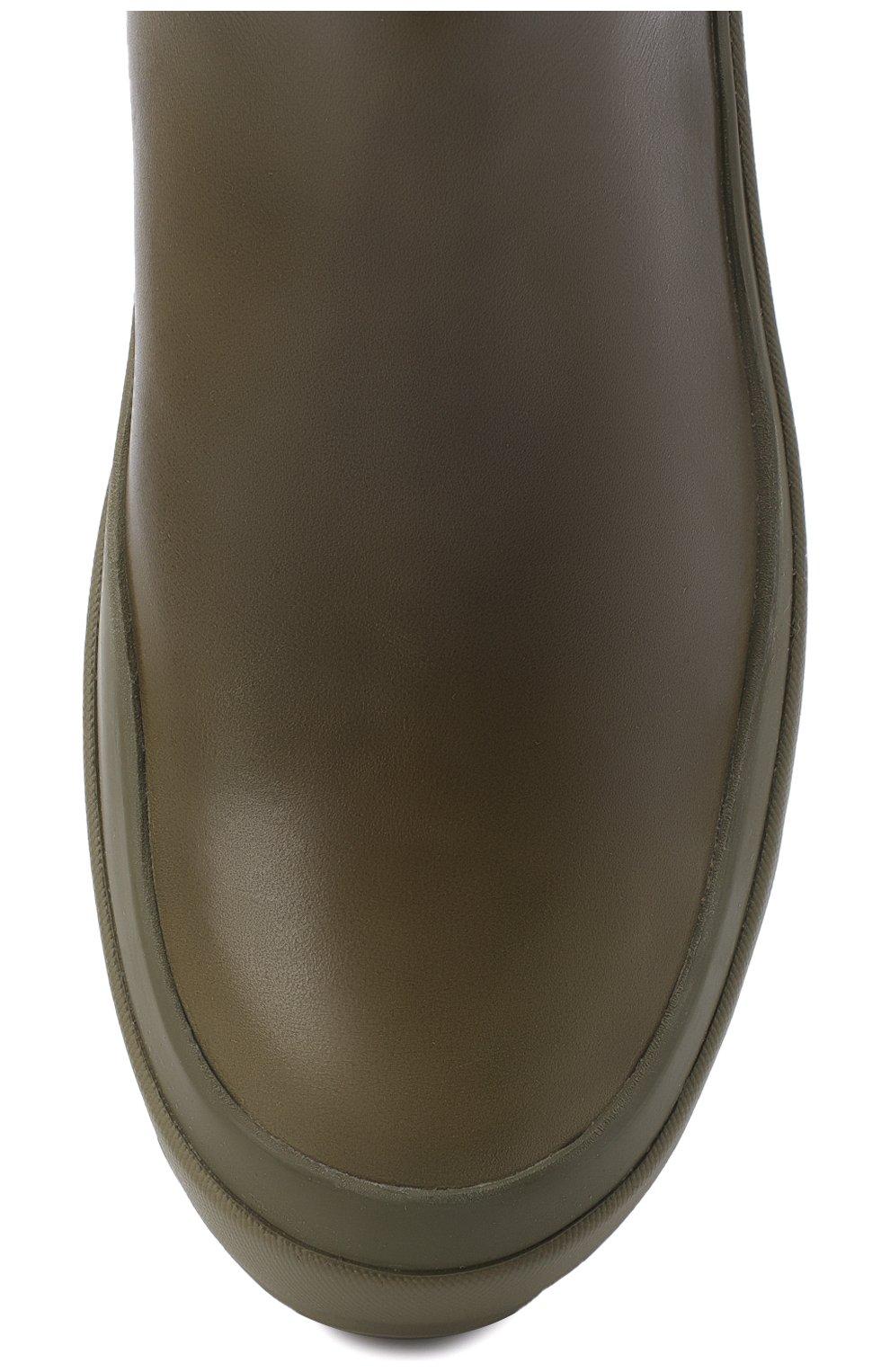 Женские кожаные челси JIL SANDER хаки цвета, арт. JP33010A-12112 | Фото 5