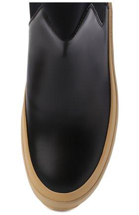 Женские кожаные челси JIL SANDER черного цвета, арт. JP35060A-12102 | Фото 5
