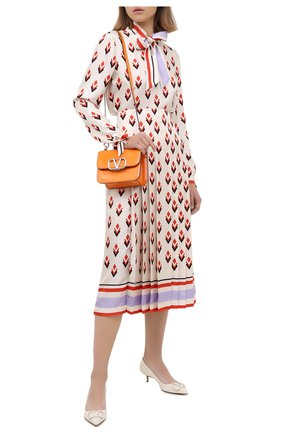 Женская кожаные туфли valentino garavani vlogo VALENTINO белого цвета, арт. UW2S0Q63/TMK | Фото 2