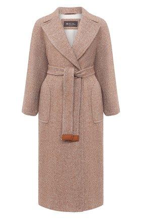 Женское кашемировое пальто LORO PIANA бежевого цвета, арт. FAL2988 | Фото 1