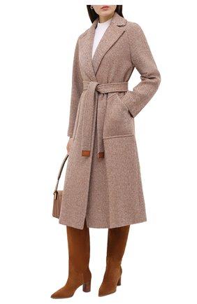 Женское кашемировое пальто LORO PIANA бежевого цвета, арт. FAL2988 | Фото 2