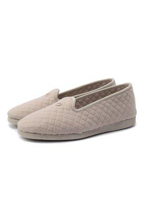 Женского домашние туфли LORO PIANA кремвого цвета, арт. FAG4785 | Фото 1