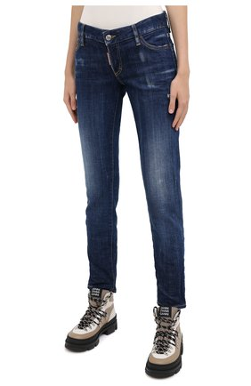 Женские джинсы DSQUARED2 синего цвета, арт. S75LB0350/S30342   Фото 3