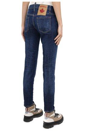 Женские джинсы DSQUARED2 синего цвета, арт. S75LB0350/S30342   Фото 4