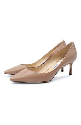 Кожаные туфли Romy на шпильке | Фото №1