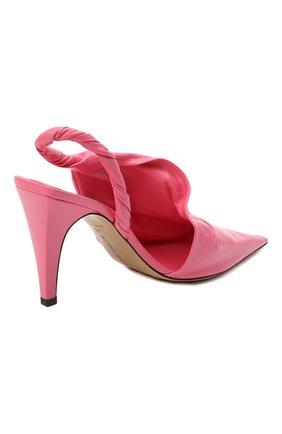 Женские кожаные туфли bv point BOTTEGA VENETA розового цвета, арт. 630183/VBP10   Фото 4