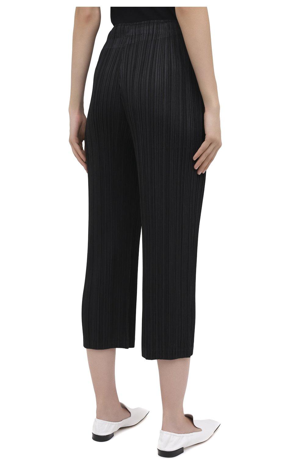 Женские брюки ISSEY MIYAKE черного цвета, арт. PP08-JF412 | Фото 4