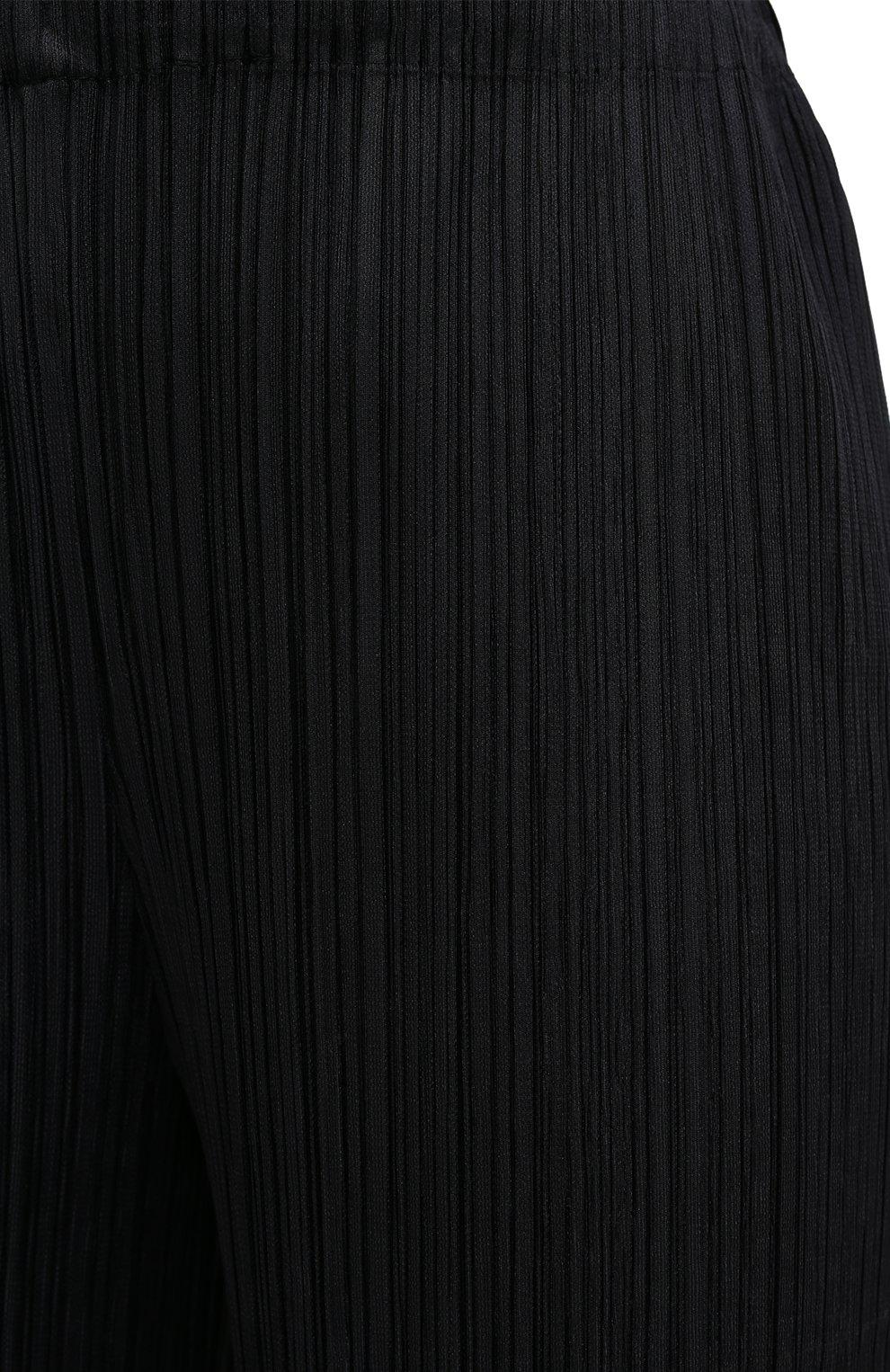 Женские брюки ISSEY MIYAKE черного цвета, арт. PP08-JF412 | Фото 5
