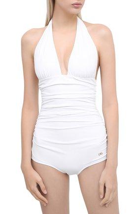 Женский слитный купальник DOLCE & GABBANA белого цвета, арт. 09A06J/FUGA2 | Фото 2