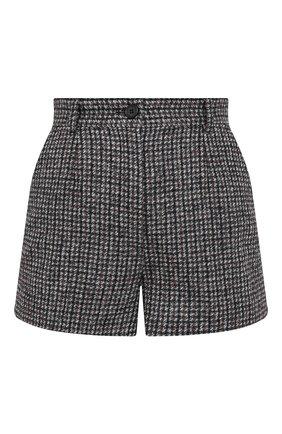 Женские шерстяные шорты DOLCE & GABBANA серого цвета, арт. FTBWIT/FMMFU | Фото 1