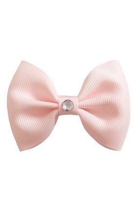 Детская заколка-зажим bowtie bow MILLEDEUX светло-розового цвета, арт. 115-GLGC-02 | Фото 1