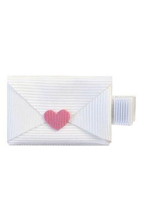 Детская заколка-зажим письмо MILLEDEUX белого цвета, арт. 149-VAC-04 | Фото 1