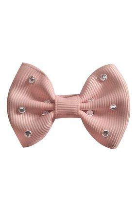 Детская заколка-зажим bowtie bow MILLEDEUX светло-розового цвета, арт. 164-GLGC-03 | Фото 1