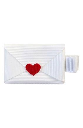 Детская заколка-зажим письмо MILLEDEUX белого цвета, арт. 260-VAC-04 | Фото 1
