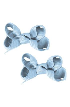 Детская набор из двух заколок boutique bow MILLEDEUX голубого цвета, арт. 307-Pigtail- CGC-01 | Фото 1