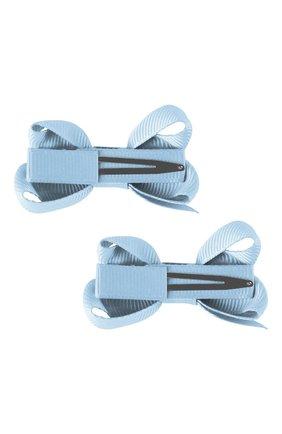 Детская набор из двух заколок boutique bow MILLEDEUX голубого цвета, арт. 307-Pigtail- CGC-01 | Фото 2
