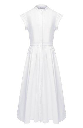 Женское хлопковое платье ALEXANDER MCQUEEN белого цвета, арт. 629055/QAAAC   Фото 1